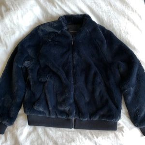 Faux Fur Bomber Jacket NWOT